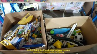 CONTENTS OF 2 BOXES – MIXED TOYS TO INC
