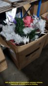 CONTENTS OF BOX – VERY LARGE QUANTITY OF 30CM CHRISTMAS TREES (RRP £2 EACH)