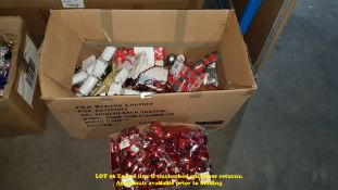 CONTENTS OF 2 BOXES - MIXED CHRISTMAS ITEMS TO INC CHRISTMAS CRACKERS,