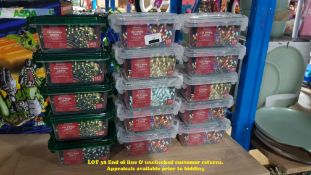 15 X MIXED STYLE MAINS OPERATED 100 STRING LIGHTS (RRP £6 EACH)