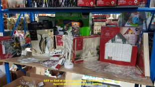 CONTENTS OF SHELF – APPROX 13 MIXED CHRISTMAS ITEMS TO INC ANGEL WINGS,