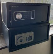 2 x Chubb small document safes - 43cm x