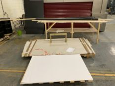 Contents to 2 pallets and a trestle tabl