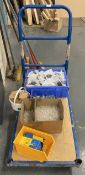 Trolley and contents - European plugs, f