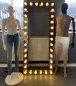 A fibreglass male mannequin with articul