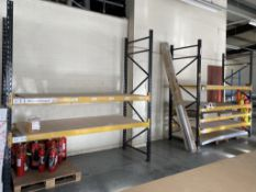 2 x bays of brown/orange pallet racking