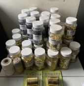 Approximately 40 jars and contents of Fl