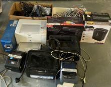 An Epson AL-M200 printer, 2 x label prin