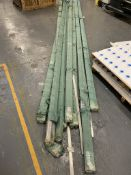 9 x large packs of aluminium extrusion -