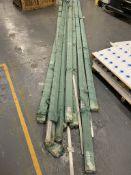 9 x large packs of aluminium extrusion -