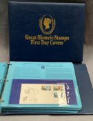 Two albums of Great Historic Stamps First Day Covers, all circa 1978/79 - Commonwealth,