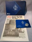 The Royal Mint The Queen's Diamond Jubilee Coin and facsimile commemorative paper,