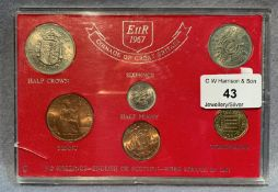 An EIIR 1967 Coinage of Great Britain set in case