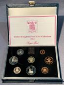 A 1984 Royal Mint UK proof coin collection in case