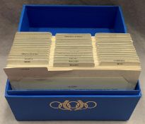A boxed set of International Olympic Committee 1980 first day covers featuring forty-six countries