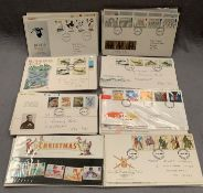 Contents to tray - 88 Royal Mail First Day Covers, all 1980s,