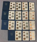 Nineteen packs of decimal coinage