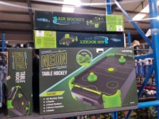 9 X #WINNING NEON HOCKEY TABLE Further Information Returned items carry 'RTM'