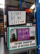 14 X MIXED STYLE LIGHTBOX Further Information Returned items carry 'RTM' stickers