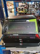 13 X RED5 LIGHT UP GAMING KEYBOARD Further Information Returned items carry 'RTM'