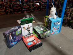 7 ITEMS - MIXED LOT TO IN 3 X DUEL BATTLE , 1 X INFLATABLE SUMO, 1 X ORB RETRO GAMING MAT,