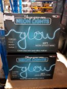 13 X RED5 SHAPE YOUR OWN NEON LIGHTS Further Information Returned items carry
