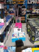 10 ITEMS - MIXED LOT TO INC 4 X HE 630 PORTABLE BLUETOOTH SPEAKER WITH LED LIGHTSHOW,