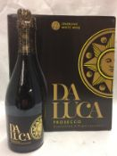 6 x 750ml bottles of Da Luca Prosecco ex