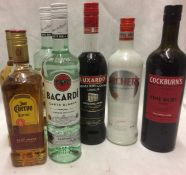 7 x assorted bottles of spirits - 2 x 70