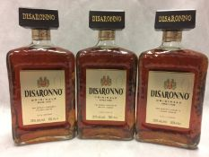 3 x 700ml bottles of Disaronno Liqueur
