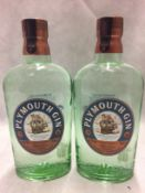 2 x 70cl bottles of Plymouth Gin