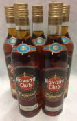 5 x 70cl bottles of Havana Club Double a