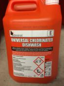 6 x 5L bottles of Admirals universal chlorinated dish wash