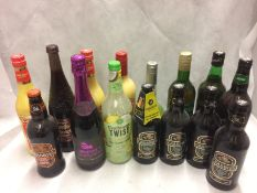 A collection of 15 x bottles of Advocaat, Crabbies Alcoholic ginger beer,