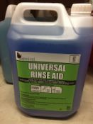 9 x 5L bottle of Admiral universal rinse aid