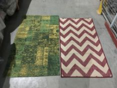 A Moda Chevron red runner - 80cm x 150cm