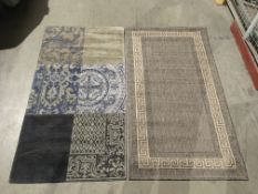 A Oriental Weavers Greek Key Flatweave g