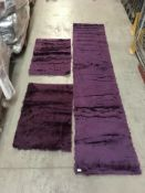 A House Addition Pireo 3 piece berry rug