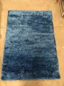 A Paco Home 100% polyester blue rug - 14