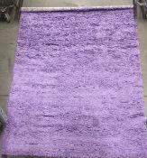 A Serdim Rugs Oxford shaggy lilac rug -