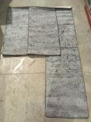 3 x Misento 375 shaggy braun rugs - 2 x
