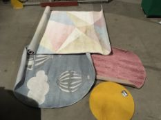 4 x assorted sized rugs - all marked/dir