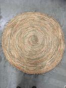 A Nattiot Pampa circular 100% jute rug -