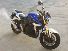 SUZUKI GSR 750 AL4 MOTORCYCLE - petrol - blue/silver * ON INSTRUCTIONS RECEIVED FROM THE INSOLVENCY