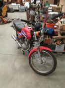 HONDA CG 125CC MOTORCYCLE - petrol - red Reg. No: K223 FNW Rec. Mil: 15,822+ 1st Reg: 14.08.
