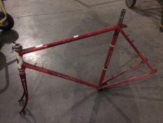 A Motobecame France bike frame
