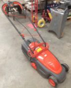 An Electrolux Venturer 320 240v rotary lawnmower complete with collection box