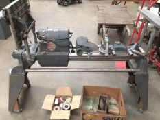 A Shopsmith 240v lathe/woodworking machine Mark V serial number SS-62885 on castors complete with a