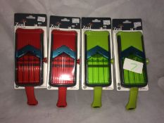 7 x assorted Zeal red and green super sl
