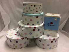 3 x sets of 3 circular cake tins and 1 x
